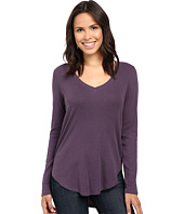 Lilla P - Fine Rib Long Sleeve V-Neck