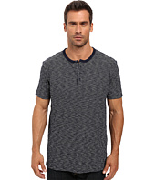 Lucky Brand - Striped Short Sleeve Henley