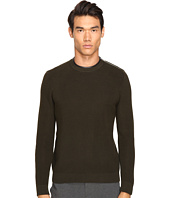 The Kooples - Mercerized Cotton & Leather Sweater