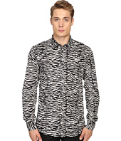 Just Cavalli - Slim Fit Zebra Vibe Print Shirt