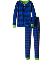 Hatley Kids - Lime & Blue Stripe Henley Pajama (Toddler/Little Kids/Big Kids)