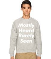 Mostly Heard Rarely Seen - Disappearing Text Sweatshirt