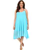 Bleu Rod Beattie - Plus Size Over the Edge A-Line Pleated Dress Cover-Up