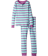 Hatley Kids - Icy Stripes Henley Pajama Set (Toddler/Little Kids/Big Kids)