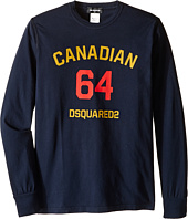 Dsquared2 Kids - Long Sleeve Canadian Tee (Big Kids)