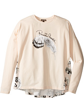 Roberto Cavalli Kids - Long Sleeve Graphic Shirt w/ Feather Print on Back (Big Kids)