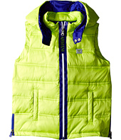 Armani Junior - Puffer Vest with Blue Trim (Toddler/Little Kids/Big Kids)