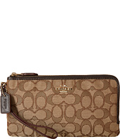 COACH - Signature Double Zip Wallet