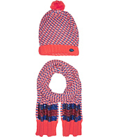 Little Marc Jacobs - Set of Knitted Hat and Scarf with Sequined Stripes