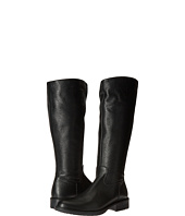 Armani Junior - Tall Leather Boots with Armani Logo (Little Kid/Big Kid)