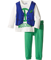 Moschino Kids - Two-Piece Set/Vest Print Tee + Leggings (Infant)