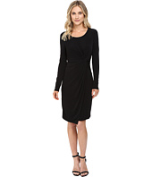 CATHERINE Catherine Malandrino - Long Sleeve Knot Front Wrap Dress
