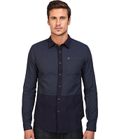 Scotch & Soda - Long Sleeve Shirt in Mix & Match Brushed Cotton Qualities