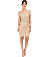 Nicole Miller - Embroidered Tulle Short Sleeve Illusion Party Dress