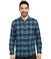 True Grit - Vintage Melange Buffalo Check Long Sleeve Two-Pocket Shirt