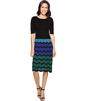 Christin Michaels - Juleen Chevron Sweater Dress