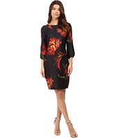 Christin Michaels - Jeane Floral Print 3/4 Sleeve Dress