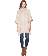 Christin Michaels - Maia Cable Knit Turtleneck Poncho