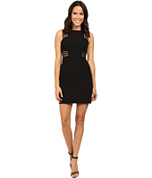 Aidan Mattox - Sleeveless Crepe Cocktail Dress w/ Illusion Mesh Detail
