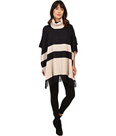 Brigitte Bailey - Lany Striped Poncho with Fringe