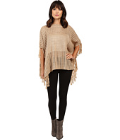 Brigitte Bailey - Ginger Crocheted Poncho with Fringe