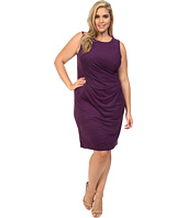 London Times - Plus Size Suede w/ Pleated Front