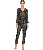Kate Spade New York - Metallic Clipped Dot Jumpsuit