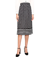 Kate Spade New York - Dot Stripe Pleated Skirt