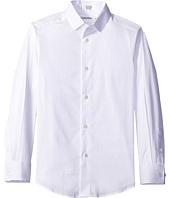 Calvin Klein Kids - Long Sleeve Luster Tonal Stripe Stretch Shirt (Big Kids)