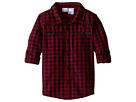 Check Dip-Dye Shirt with Welt Pockets (Toddler/Little Kids)