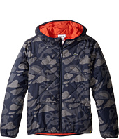 Lacoste Kids - Reversible Puffer Coat with All Over Camo Graphic (Little Kids/Big Kids)