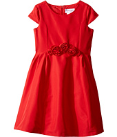 Us Angels - Silk Taffeta Cap Sleeve Dress w/ Flower Trim (Toddler/Little Kids)