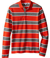 Lacoste Kids - Long Sleeve Bold Striped Heavy Pique Polo (Toddler/Little Kids/Big Kids)