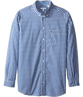 Lacoste Kids - Long Sleeve Check Poplin Woven Shirt (Little Kids/Big Kids)