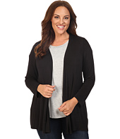 B Collection by Bobeau Curvy - Plus Size Keegan Woven Back Cardigan