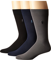 Polo Ralph Lauren - 3-Pack Supersoft Flat Knit with Polo Player Embroidery