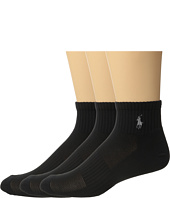 Polo Ralph Lauren - 3-Pack Tech Athletic Quarter with Polo Player Embroidery