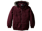 Faux Fur Hood Trim Jacket (Big Kids)