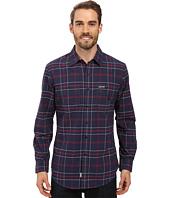 U.S. POLO ASSN. - Long Sleeve Plaid Oxford Cloth Straight Point Collar Sport Shirt