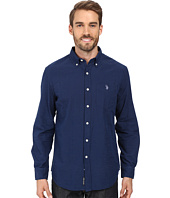 U.S. POLO ASSN. - Long Sleeve Cotton Dobby Stitch Sport Shirt
