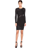 Versace Jeans - Long Sleeve Diamond Sheer Dress