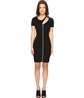 Versace Jeans - Short Sleeve Zip Front Cut Out Dress