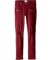 Hudson Kids - Lily Moto Five-Pocket Zipper Ankle Skinny with Fray Hem in Net Red (Big Kids)