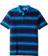 Lacoste Kids - Short Sleeve Stripe Jersey Polo (Infant/Toddler/Little Kids/Big Kids)