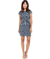 Adrianna Papell - Lace and Sequin Cap Sleeve Dress