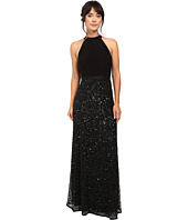 Adrianna Papell - Halter Jersey and Beaded Gown