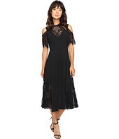 Nicole Miller - Danielle Pleated Glazed Lace Combo Dress