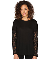 Jack by BB Dakota - Juleen Soft Knit Top w/ Lace Back and Sleeves