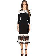 YIGAL AZROUËL - Mod Lace Combo Knit Dress