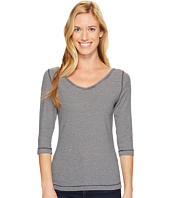 Royal Robbins - Kickback to Front Stripe 3/4 Sleeve Top